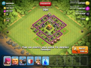 Clash of clans Town Hall 6 Trophy Base - 5