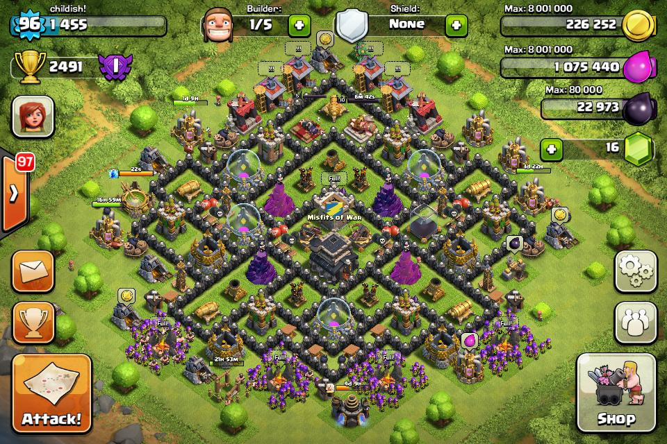 Best Clash Of Clans Town Hall Level 9 Defense Base Design 7