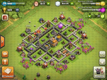 Clash Of Clans Town Hall Level 7 Defence Base Design 3