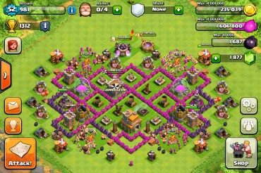 Clash Of Clans Town Hall Level 7 Defence Base Design 5