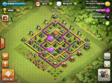 Clash Of Clans Town Hall Level 7 Defence Base Design 7