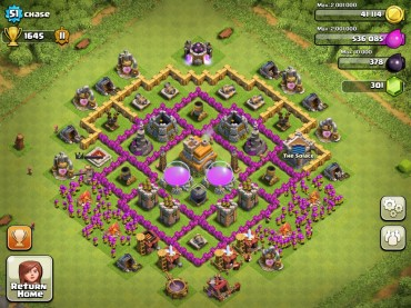 Clash Of Clans Town Hall Level 7 Defence Base Design 8