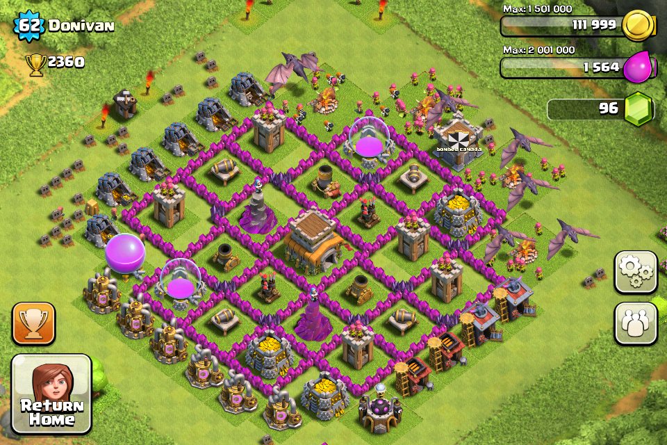 Top 10 clash of clans town hall level 8 defense base design 4 png