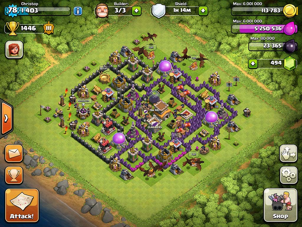 Top 10 Clash Of Clans Town Hall Level 8 Defense Base Design 8