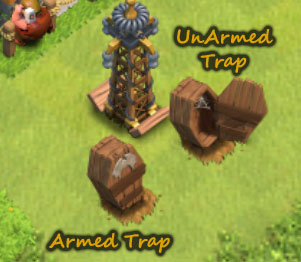 Armed-and-unarmed-Skeleton-Trap- Clash of Clans