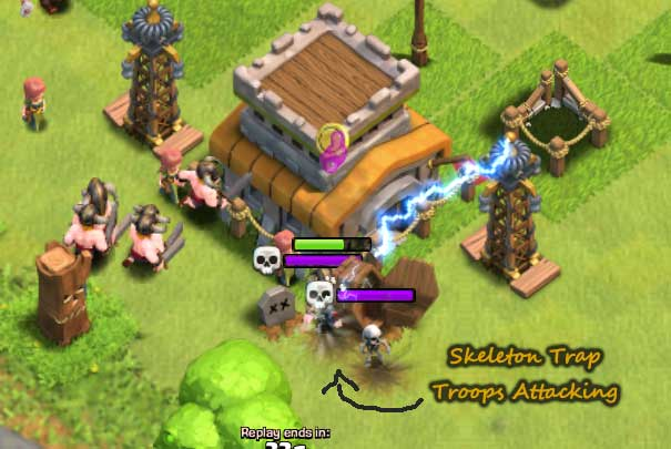 skeleton trap troops-out clash of clans