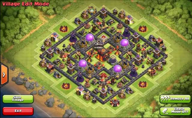 Photos top 10 clash of clans town hall level 10 defense base design