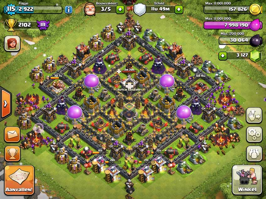 Clash of clans town hall level 10 defense base design thats my top