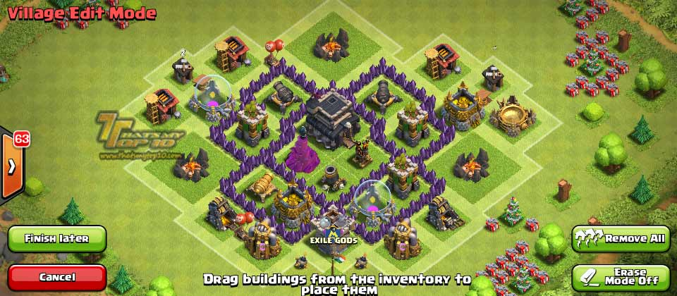 Clash Of Clans Town Hall Level 5 Defense - TH5 War Base 2 - Thats My Top 10