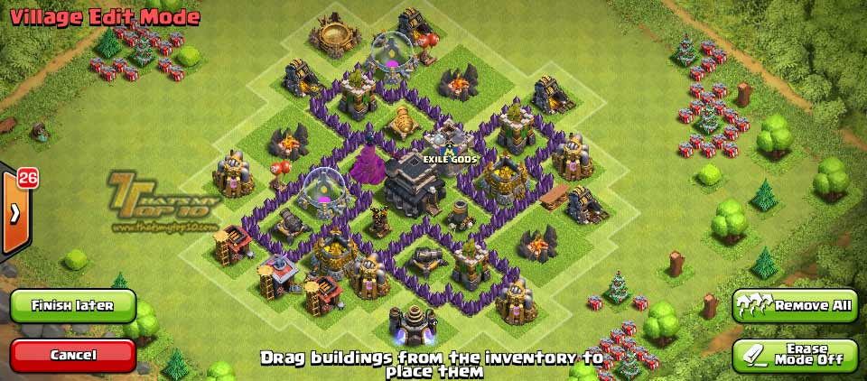 Clash Of Clans Town Hall Level 5 Defense - TH5 War Base 6 - Thats My Top 10