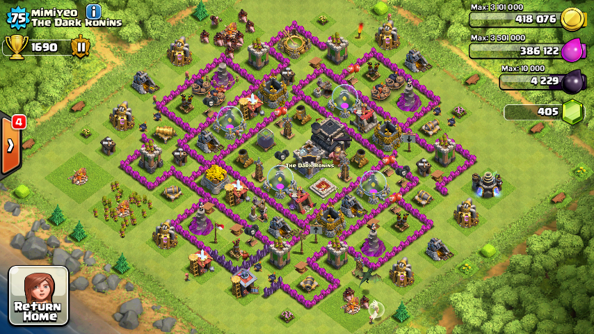 Best Clash Of Clans Town Hall Level 9 Defense Base Design 6