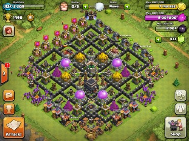 Best Clash Of Clans Town Hall Level 9 Defense Base Design 9
