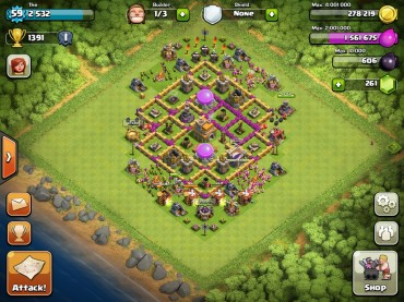 Clash Of Clans Town Hall Level 7 Defence Base Design 10