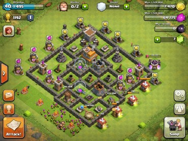 Clash Of Clans Town Hall Level 7 Defence Base Design 2