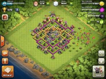 Clash Of Clans Town Hall Level 7 Defence Base Design 4