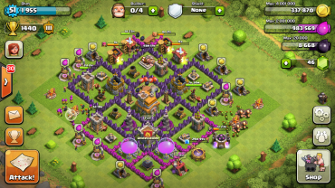 Clash Of Clans Town Hall Level 7 Defence Base Design 6