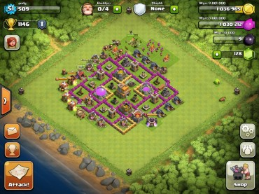Clash Of Clans Town Hall Level 7 Defence Base Design 9