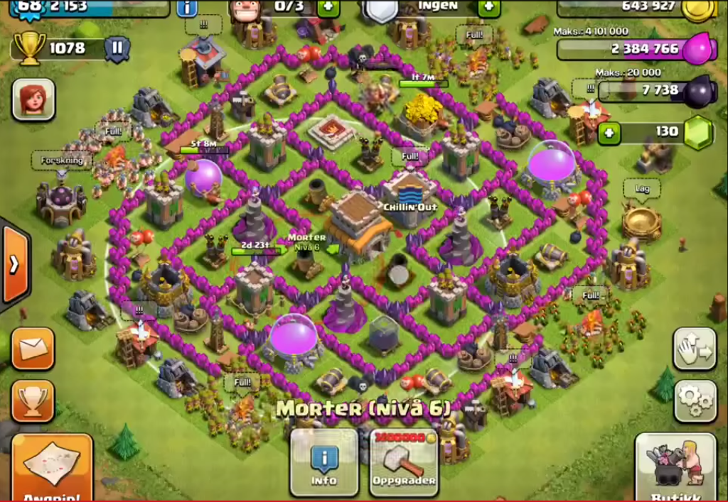 Top 10 Clash Of Clans Town Hall Level 8 Defense Base Design 1