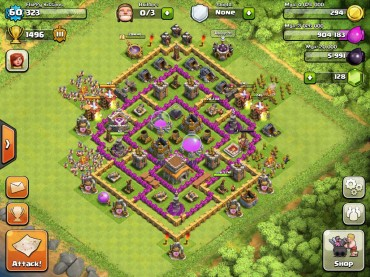 Top 10 Clash Of Clans Town Hall Level 8 Defense Base Design 3