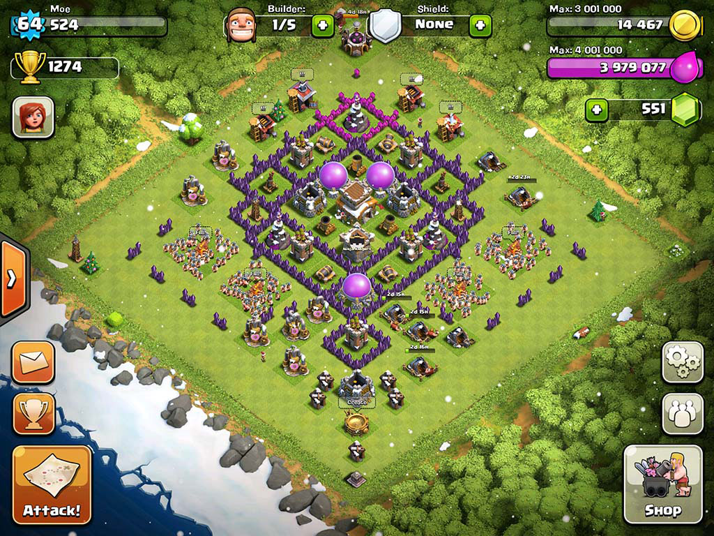 Top 10 Clash Of Clans Town Hall Level 8 Defense Base Design 6