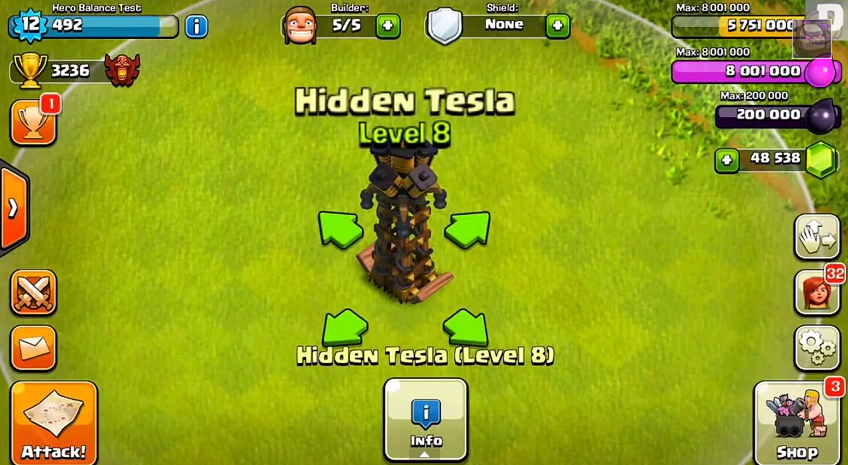 Tesla Level 8 - Top 10 Clash of clans update