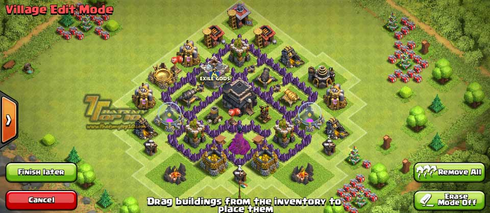 Clash Of Clans Town Hall Level 5 Defense - TH5 War Base 1 - Thats My Top 10