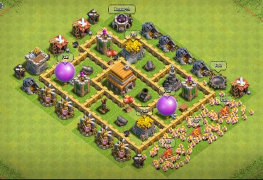Clash Of Clans Town Hall Level 5 Defense - TH5 War Base 10 - Thats My Top 10