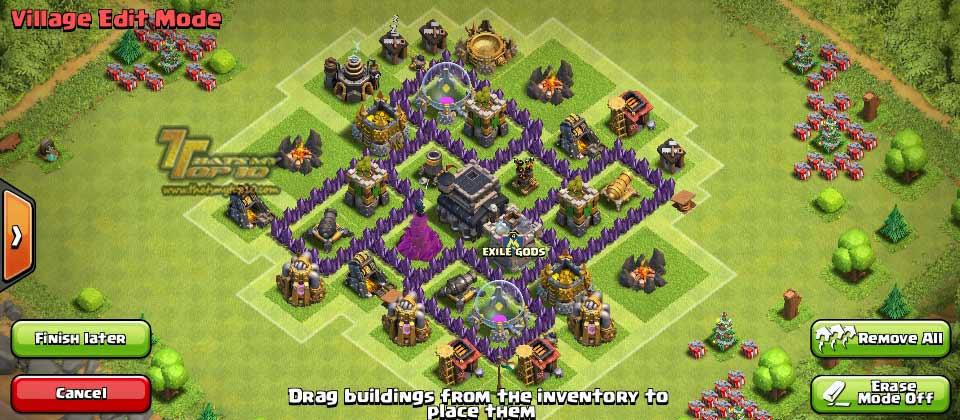 Clash Of Clans Town Hall Level 5 Defense - TH5 War Base 3 - Thats My Top 10