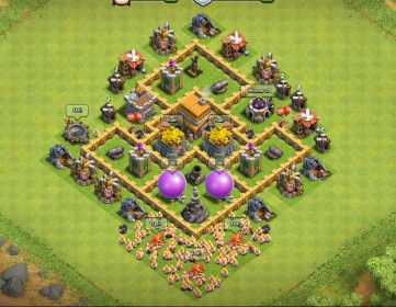 Clash Of Clans Town Hall Level 5 Defense - TH5 War Base 9 - Thats My Top 10